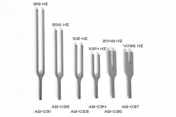 Tuning forks for Aurists with pattern - Hartmann