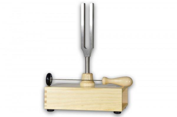 Stimmgabel mit Resonanzkasten + Anschlaghammer - a1 = 440 Hz